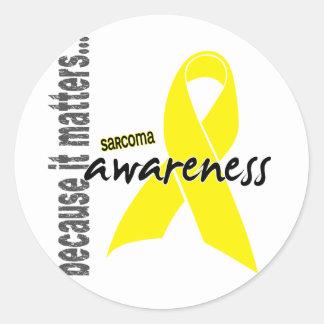 Sarcoma Awareness Classic Round Sticker