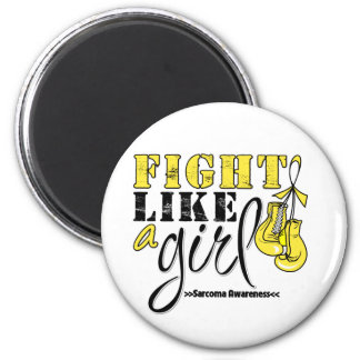 Sarcoma Awareness Fight Like a Girl 6 Cm Round Magnet