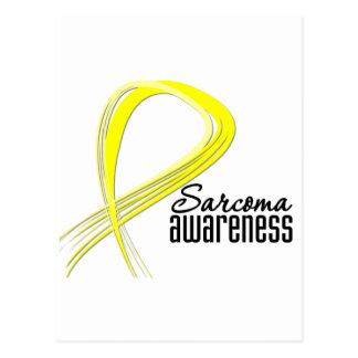 Sarcoma Awareness Grunge Ribbon Postcard