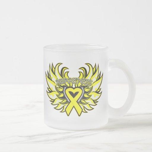 Sarcoma Awareness Heart Wings.png Coffee Mug