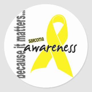 Sarcoma Awareness Round Sticker