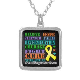 Sarcoma Believe Strength Determination Custom Necklace