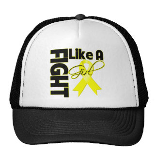 Sarcoma Cancer Chic Fight Like A Girl Ribbon Trucker Hat
