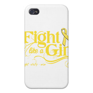 Sarcoma Cancer Fight Like A Girl Elegant Cases For iPhone 4