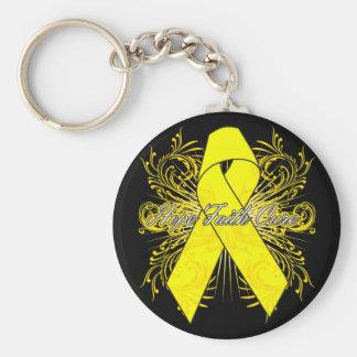 Sarcoma Cancer Flourish Hope Faith Cure Key Chains