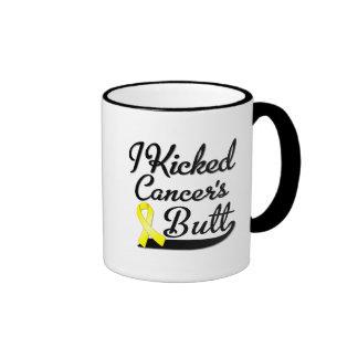 Sarcoma Cancer I Kicked Butt Ringer Coffee Mug