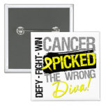 Sarcoma Cancer Picked The Wrong Diva Pinback Buttons