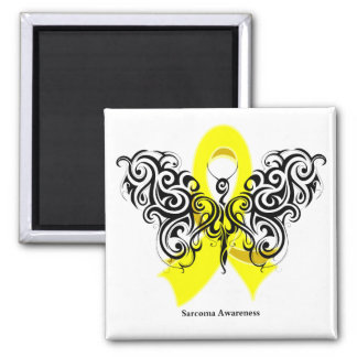 Sarcoma Cancer Tribal Butterfly Fridge Magnet