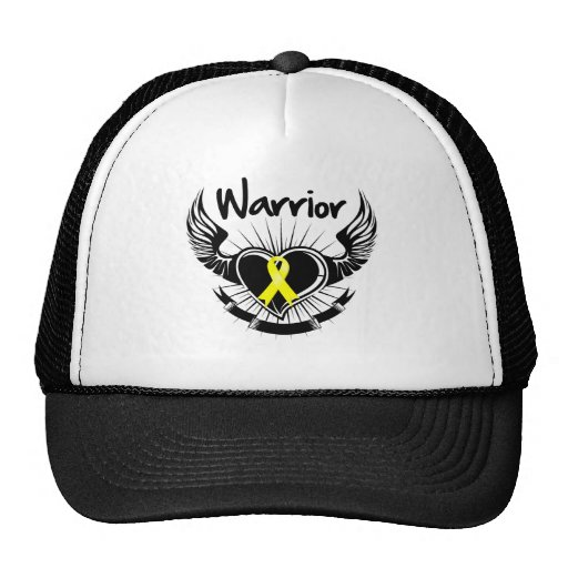 Sarcoma Cancer Warrior Fighter Wings Mesh Hat