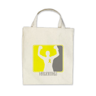 Sarcoma Cancer Winning Survivor Tote Bags