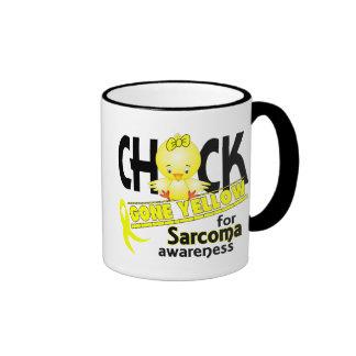 Sarcoma Chick Gone Yellow 2 Ringer Mug
