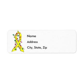 Sarcoma Christmas Lights Ribbon Return Address Label