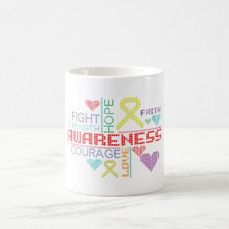 Sarcoma Colorful Slogans Mugs