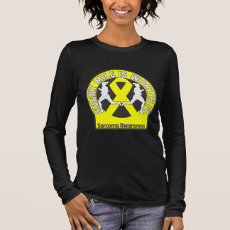 Sarcoma Every Mile Is Worth It Long Sleeve T-Shirt