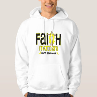 Sarcoma Faith Matters Cross 1 Hoodie