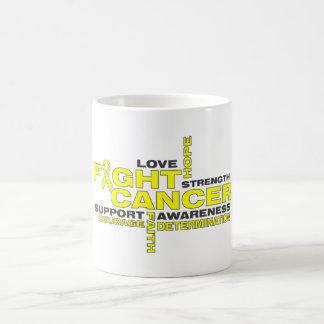 Sarcoma Fight Cancer Collage Classic White Coffee Mug
