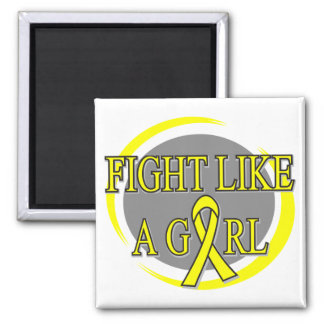 Sarcoma Fight Like A Girl Circular Square Magnet