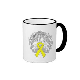 Sarcoma Fight Like A Girl Fleurish Ringer Mug