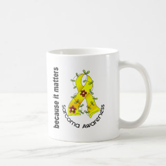 SARCOMA Flower Ribbon 3 Classic White Coffee Mug