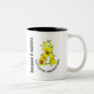 SARCOMA Flower Ribbon 3 Two-Tone Mug