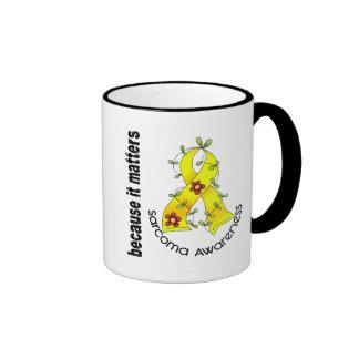 SARCOMA Flower Ribbon 3 Ringer Mug