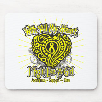 Sarcoma Heart I Fight Like A Girl Mouse Pads