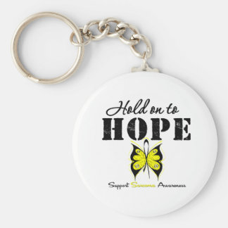 Sarcoma Hold On To Hope Basic Round Button Key Ring