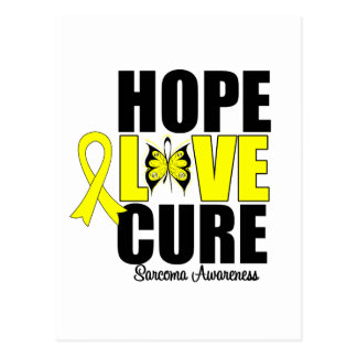 Sarcoma Hope Love Cure Postcard