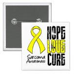 Sarcoma Hope Love Cure Ribbon Pins