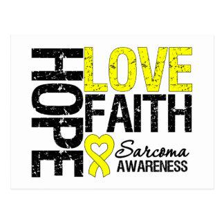 Sarcoma Hope Love Faith Postcard