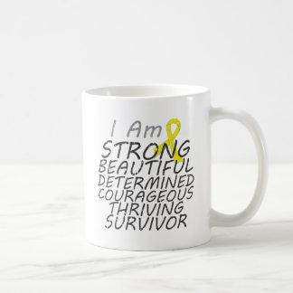 Sarcoma I Am Strong Survivor Basic White Mug