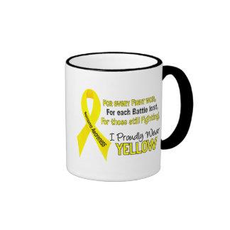 Sarcoma I Proudly Wear Yellow 1 Ringer Mug