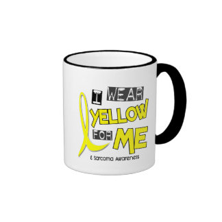 Sarcoma I WEAR YELLOW FOR ME 37 Ringer Mug