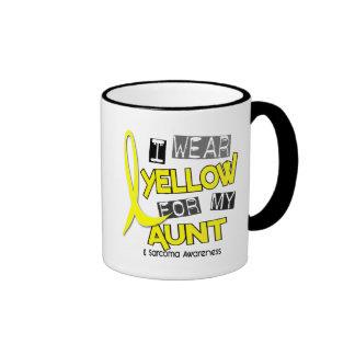 Sarcoma I WEAR YELLOW FOR MY AUNT 37 Ringer Coffee Mug