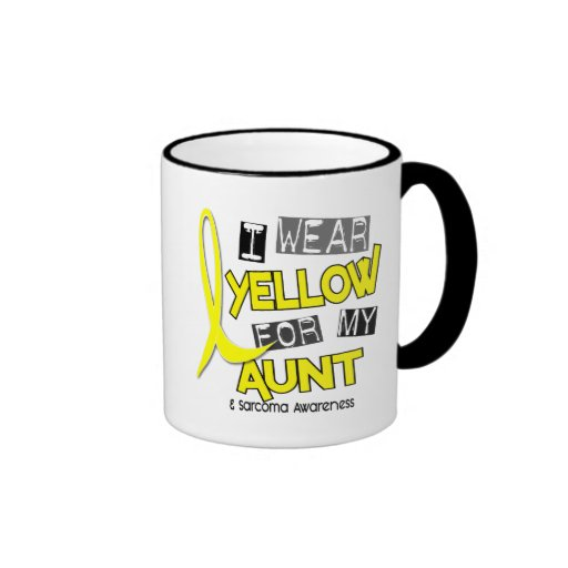 Sarcoma I WEAR YELLOW FOR MY AUNT 37 Mugs