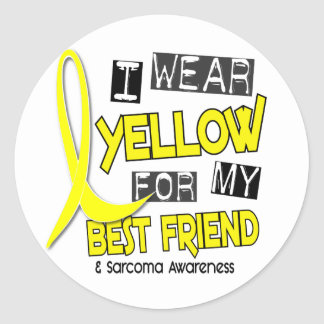 Sarcoma I WEAR YELLOW FOR MY BEST FRIEND 37 Round Sticker
