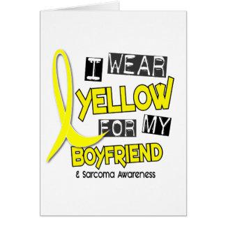 Sarcoma I WEAR YELLOW FOR MY BOYFRIEND 37 Card