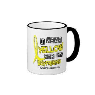 Sarcoma I WEAR YELLOW FOR MY BOYFRIEND 37 Ringer Coffee Mug