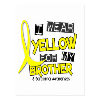Sarcoma I WEAR YELLOW FOR MY BROTHER 37 Postcard