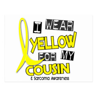 Sarcoma I WEAR YELLOW FOR MY COUSIN 37 Postcard