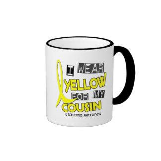 Sarcoma I WEAR YELLOW FOR MY COUSIN 37 Ringer Mug