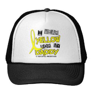 Sarcoma I WEAR YELLOW FOR MY DADDY 37 Mesh Hat