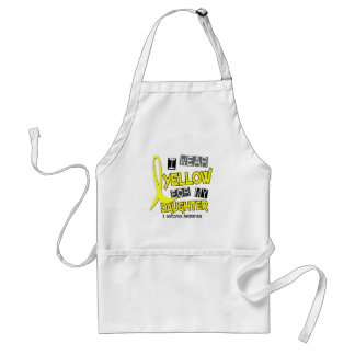 Sarcoma I WEAR YELLOW FOR MY DAUGHTER 37 Standard Apron