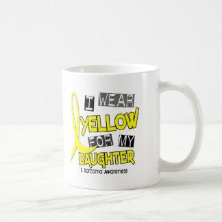 Sarcoma I WEAR YELLOW FOR MY DAUGHTER 37 Basic White Mug