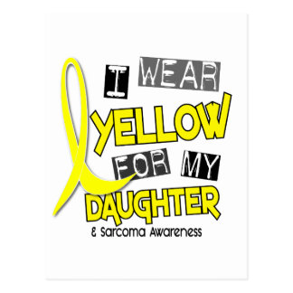 Sarcoma I WEAR YELLOW FOR MY DAUGHTER 37 Postcard