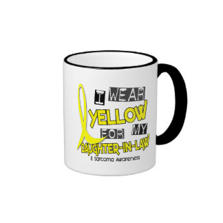 Sarcoma I WEAR YELLOW FOR MY DAUGHTER-IN-LAW 37 Ringer Mug