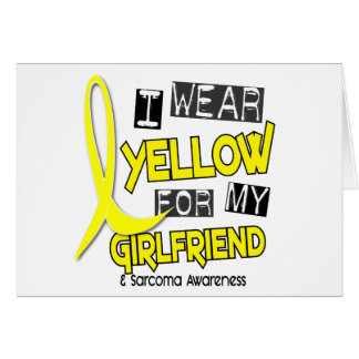 Sarcoma I WEAR YELLOW FOR MY GIRLFRIEND 37 Cards