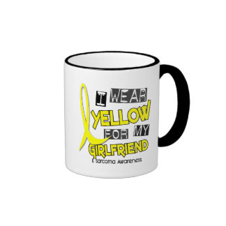 Sarcoma I WEAR YELLOW FOR MY GIRLFRIEND 37 Ringer Coffee Mug