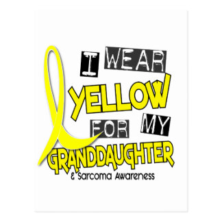 Sarcoma I WEAR YELLOW FOR MY GRANDDAUGHTER 37 Postcard