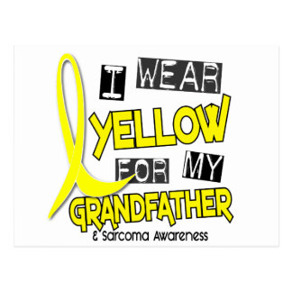 Sarcoma I WEAR YELLOW FOR MY GRANDFATHER 37 Postcard